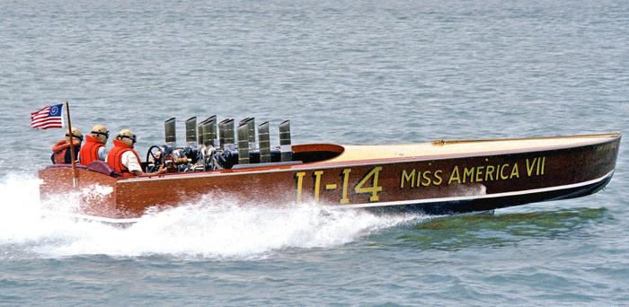 This replica U-4 Miss American VII used a pair of the 1237 engines.