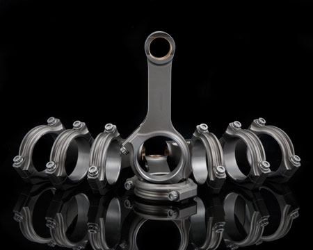 Some aftermarket manufacturers offer custom H-beam and I-beam diesel connecting rods with either a slant cap or straight cap, depending on the application.
