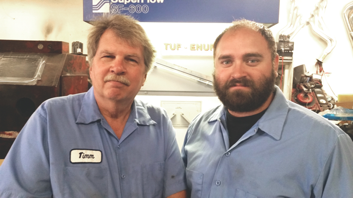 Tuf-Enuf owner Timm Jurnicie (left) and Trevor Foley, Tuf-Enuf foreman.