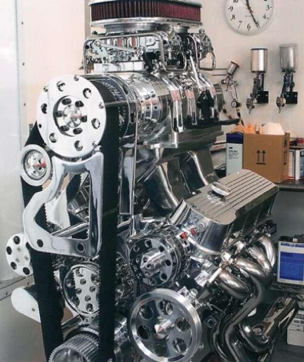 Big Block Chevy Blower Pistons: 454 Big Block Chevy Blower Engine