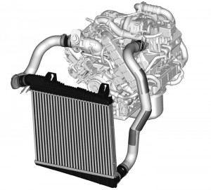 Charge Air Cooler (CAC): The CAC is located in the fron of the radiator. The CAC is an air-to-air cooler  designed to lower the temperature of the air coming out of the  turbocharger outlet before entering the intake manifold.