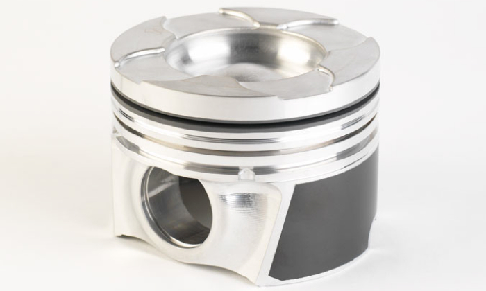 Forged Duramax piston with anodized ring groove