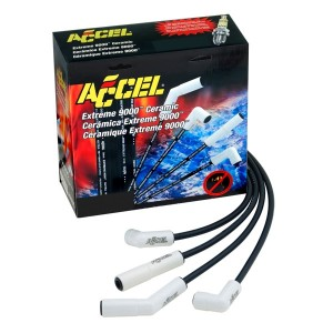 ACCEL Extreme 9000 Ceramic Boot Spark Plug Wires with Packaging (High Res)