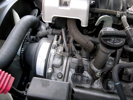 oil leaks at the front of the engine could lead to major removal if the leak is at the cam seals on vvt-i models.