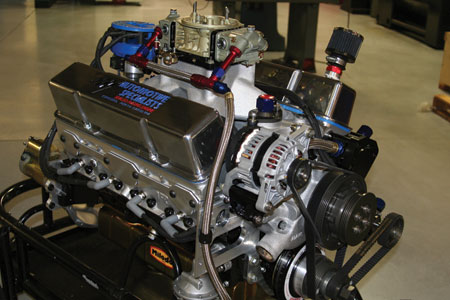 automotive specialists, inc. has developed this chevrolet sealed engine that can be used for different divisions requiring horsepower restrictions by using different carburetors utilizing their 46 years of building racing engines. surprisingly, r&d work on this engine has helped improve the upper end racing engines as well.