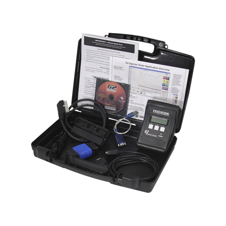 hickok inc., has introduced its new g2 diesel injector tester for ford powerstroke and navistar international engines most drivability issues in a g2 injector are caused by faulty injector timing or faulty spool valve performance (stiction). this issue causes drivability concerns such as: hard start, no start, lack of power, misfires and white smoke. in many cases, no dtc codes are set by these conditions and occur when the engine is cold. the real-time data and graphic display of injector performance provides vital injector data for accurate diagnosis.