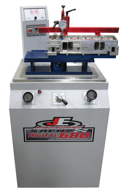 the saenz digital d-680 flow bench is easy enough that a beginner can get great results in only a few minutes. the digital display gives you real time values for temperature, depression (test pressure), velocity, and cfm. comes with audie technologies data acquisition sensors, which makes it compatible with audie flowpro software.