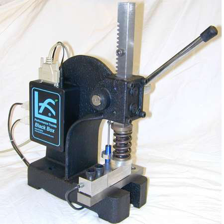 A valve spring tester  such as this computerized tester from Performance Trends is a must have for engine builder. Available in manual or pneumatic/automatic to measure valve seated force, open, force, bind height, bind clearance, spring rate, etc.  Performance Trends also has kits also available for retro-fitting many types of spring testers, including Power Tech and Rimac.