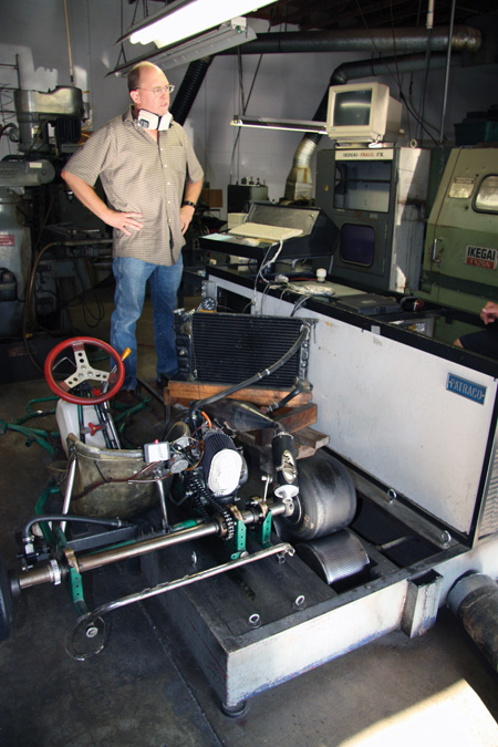 darcy decoste has been building racing two-strokes for many years. his water brake dyno is an essential tool for building race-winning engines. by using a chassis-style dyno he can feel things like clutch engagement and shift quality that would be difficult to feel with an engine dyno.