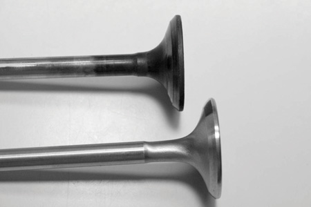Exhaust valves are typically made of 21-4N, 23-8N for many performance applications. These materials are austenitic, nitrogen-bearing chrome-nickel alloys possessing excellent high temperature strength, hardness and corrosion resistance to combustion products.
