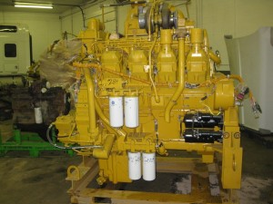 This is a 3508 Caterpillar engine. These are seen in D11 bulldozers, but this  particular one goes in a 990 Rock Truck.