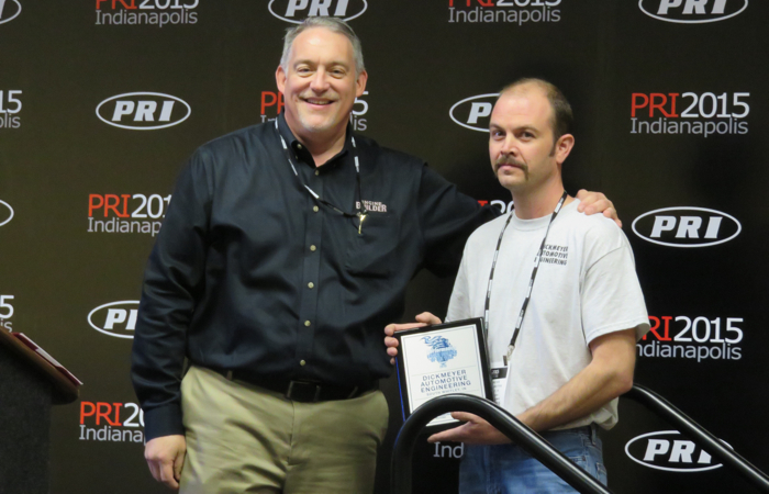 Doug Kaufman (left) with second place winner Matt Dickmeyer of Dickmeyer Automotive in South Whitley, IN.