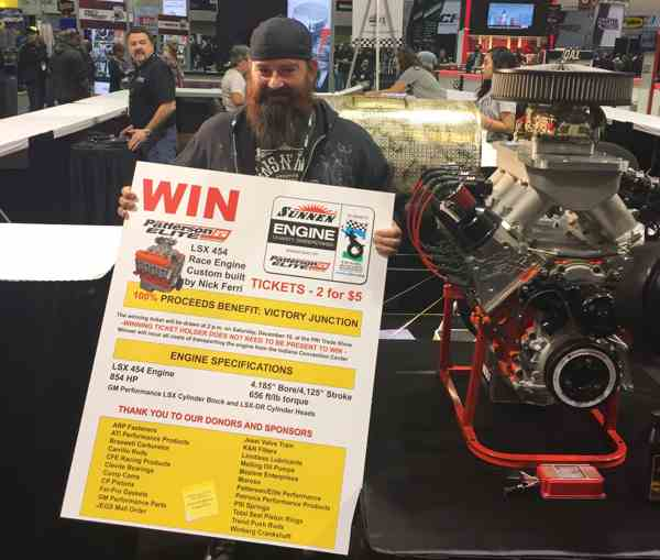The lucky winner was Scott Harr of Dominick Racecar Fabrication, Pittsburgh, PA.