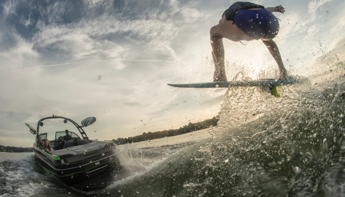 "The power required to allow surfers to ""hang ten"" behind a boat puts enormous stress on a boat's oiling system."
