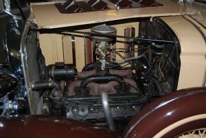 This 1932 Pontiac V-8 is the Oakland engine with the synchronizer moved to the left side instead of the right. It also has a higher 5.2:1 compression ratio and more horsepower. You may see different details in the Pontiac version.