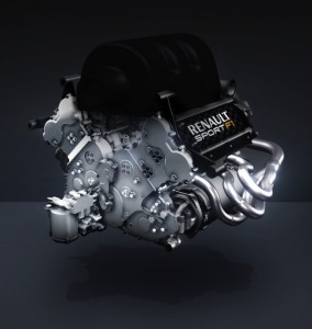 Formula 1's governing body has mandated the racing series move from the 2.4L V8 power plant to a more efficient 1.6L, turbocharged V6 engine like the one seen here from Renault.