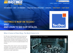 Hastings Manufacturing unveiled its new website in March this year. The company corrected a number of out-of-date aspects of its previous website.