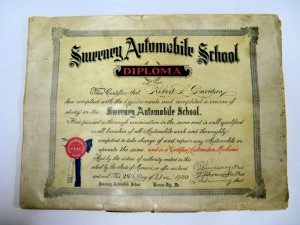 This is a certificate of competition from a 1920 edition of a Sweeney Automotive and Tractor catalog.