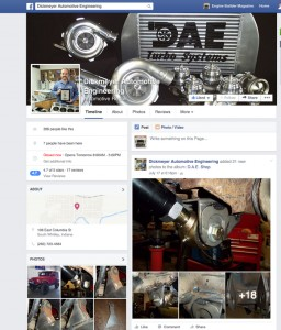 Dickmeyer Automotive Engineering, South Whitley, IN,  is a great example of how an engine builder can use Facebook as a true buseinss tool. Don't be turned off by its social aspects - you can use it for true customer service.