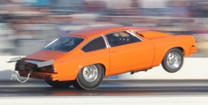 Drag racing creates extreme G-forces when accelerating and decelerating, which can starve the engine for oil if the oil pan can't control sloshing.