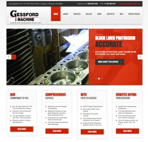 Gessford Machine in Hastingss, NE, uses its website to share engine build photos and daily video updates to keep customers all over the world up to date on the status of their (often high-dollar) engine build.