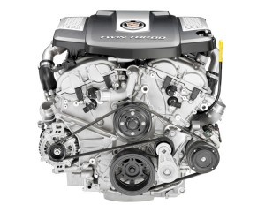 The Cadillac Twin-Turbo 3.6L V6 is a power-dense six-cylinder ­engine in the midsize luxury segment – producing 420hp and 583 (430 lb-ft) of torque at 2,500 RPM.